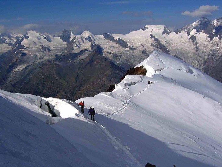 Cresta finale del WEISSMIES 4.017 m.