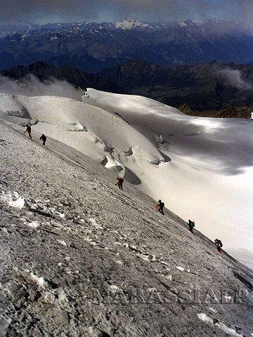 Salita finale alla Punta Gnifetti 4.554 m.