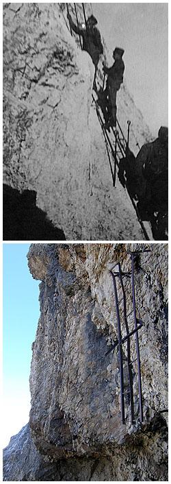 La ferrata Kaiserjäger: ieri ed oggi