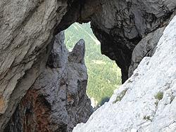 Prisojnik la finestra naturale, Prednje Okno
