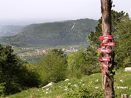 Dal monte gomila vista sul monte Santo