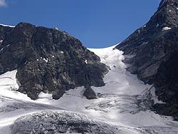 Canalone di Cresta Agüzza e Rifugio Rosa e Marco