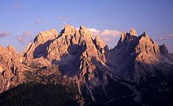 I Cadini al tramonto da Monte Piana