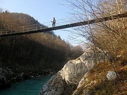 Ponte sospeso sull'Isonzo