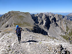 Scale degli alpini nel cammino del Sasso di Costabella