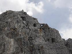 Postazioni austriache in cima della Punta Vinatzer