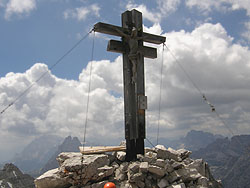 """Croce di vetta della Cima """"Osservatorio"""" - Croda Rosaa di Sesto"""