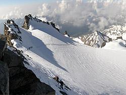La cresta del Gran Paradiso