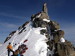 La cima rocciosa del Gran Paradiso