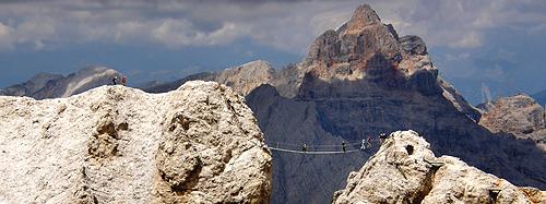 Ponte sulla ferrata Dibona - Cristallo