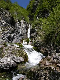 La prima cascata dell'Isonzo
