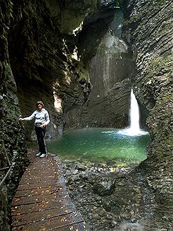 La cascata Kozjak