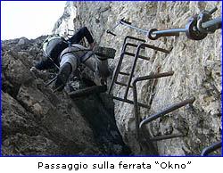 Passaggio sulla ferrata Okno