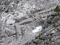 La mulattiera costruita dagli alpini