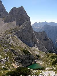 Il laghetto Spodnje Kriško jezero