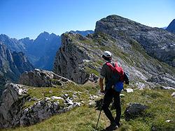 La cresta Vrh Ribeznov