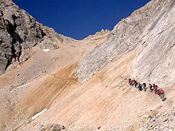Salita sul Passo d'Ombrettòla