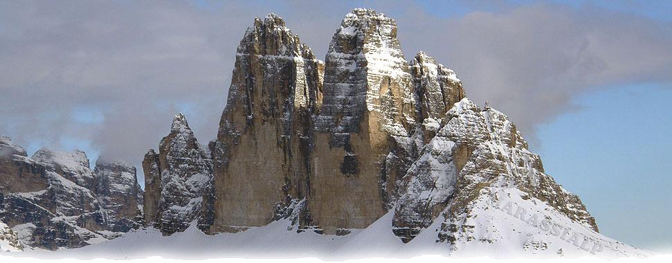 Le Tre Cime di Lavaredo dalla vetta del monte Specie