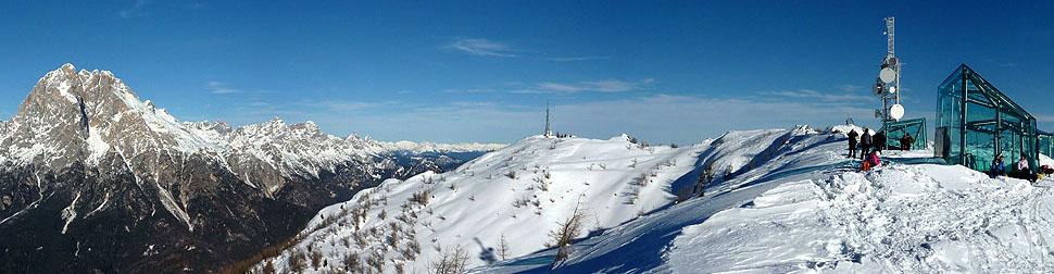 Panorama dal monte RITE: l'ANTELAO e le MARMAROLE