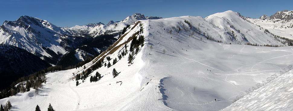 La lunga cresta del monte Oberkofel