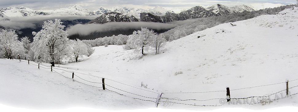 Panorama dalla dorsale del monte Stol