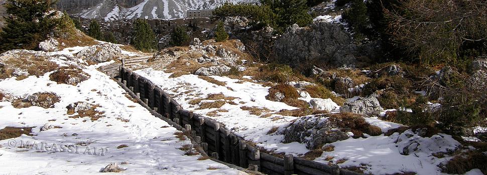 Postazione Edelweiss al Passo Valparola