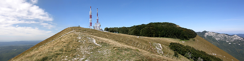 La cima del monte Nanos