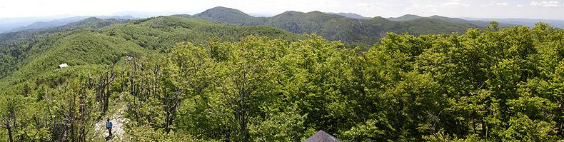 Panorama dal monte Javornik