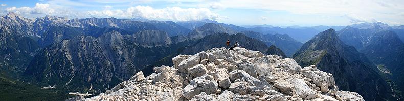 La cima del monte Jalovec
