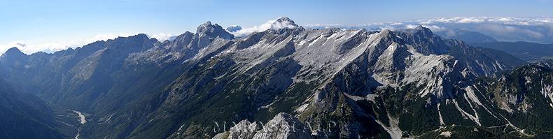 Dalla cima del monte Prisojnik