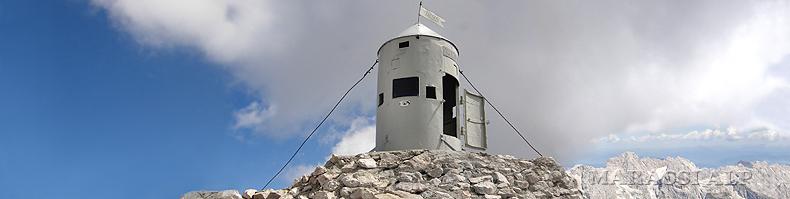 La Torre Aljaž sulla cima del Triglav