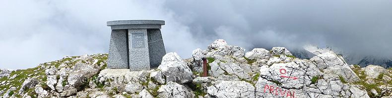 Begunjščica: la vetta del monte Veliki vrh