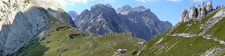 Panorama del Kamniško sedlo