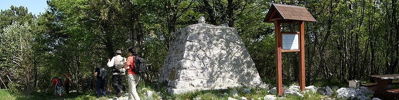 Bainsizza:monte Gomila monumento generale Papa
