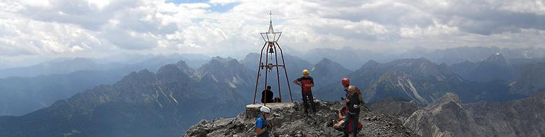 La cima del monte Coglians