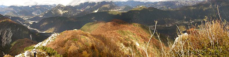 Panorama dal monte Cuzzer