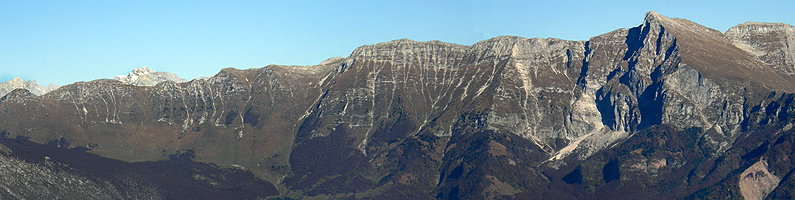 Monti Krncica, Vrata e Vršic, visti dal Matajur