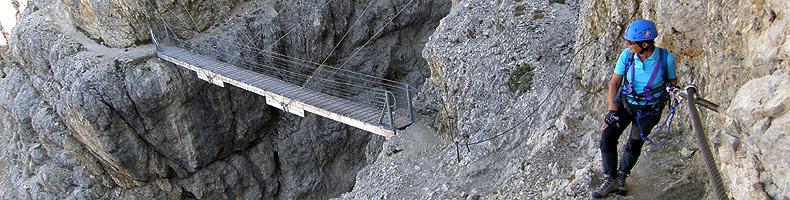 Ponticello sul sentiero attrezzato Kaiserjäger