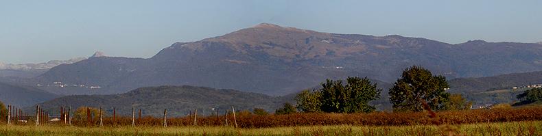 Il monte matajur dalla pianura