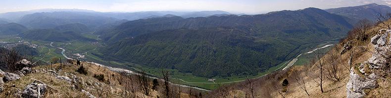 Il fiume Isonzo dalla cima del Mrzli vrh
