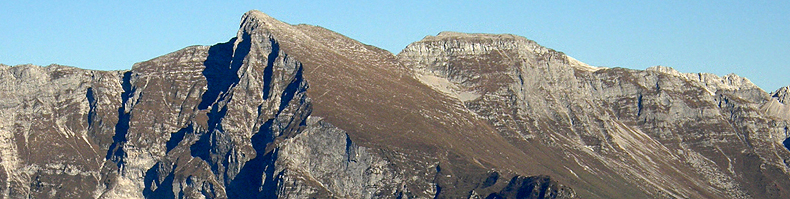 Il monte Nero e il monte Rosso