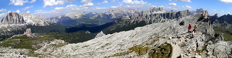 Panorama dalla vetta del Col Ombert