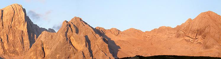 Le Cime d'Ombretta al tramonto