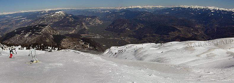 La Val d'Adige dalla Paganella, pista Nuvola Rossa