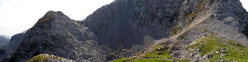 Punta Vallero (Skutnik) e il monte Krncica