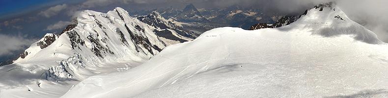 Monte Rosa, panorama dalla Punta Gnifetti