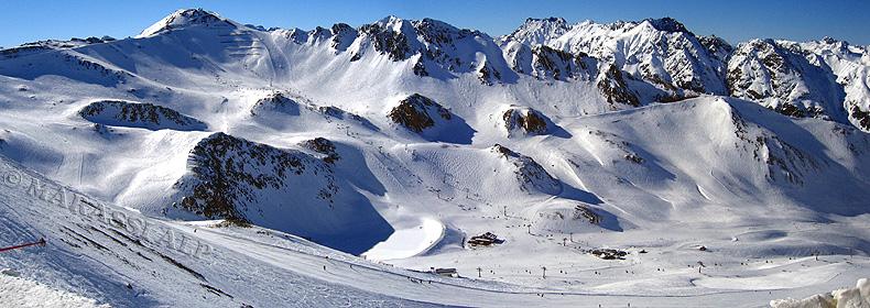 Panorama sulle piste della Silvretta Arena Ischgl-Samnaun