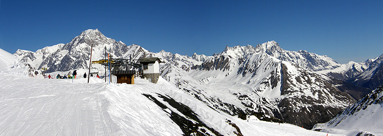 La Thuile, panorama sul monte Bianco