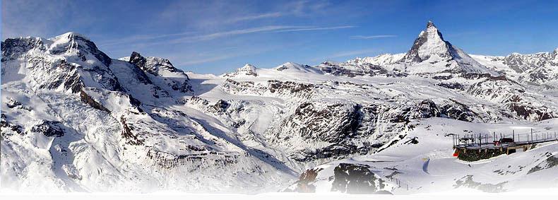 Panorama da Gornergrat verso il Cervino
