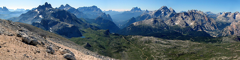 Panorama dalla Croda del Becco